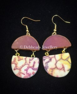 Boho chic crackle earrings