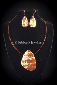 Viennetta crackle pendant - set
