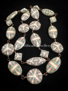 Celtic knot beaded necklace