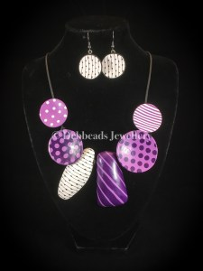 Dotty Disc necklace - set
