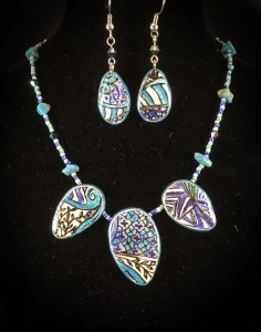Art Deco Style Necklace & Earring Set